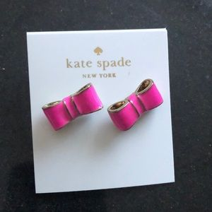 Kate Spade bow earrings. Pink color.
